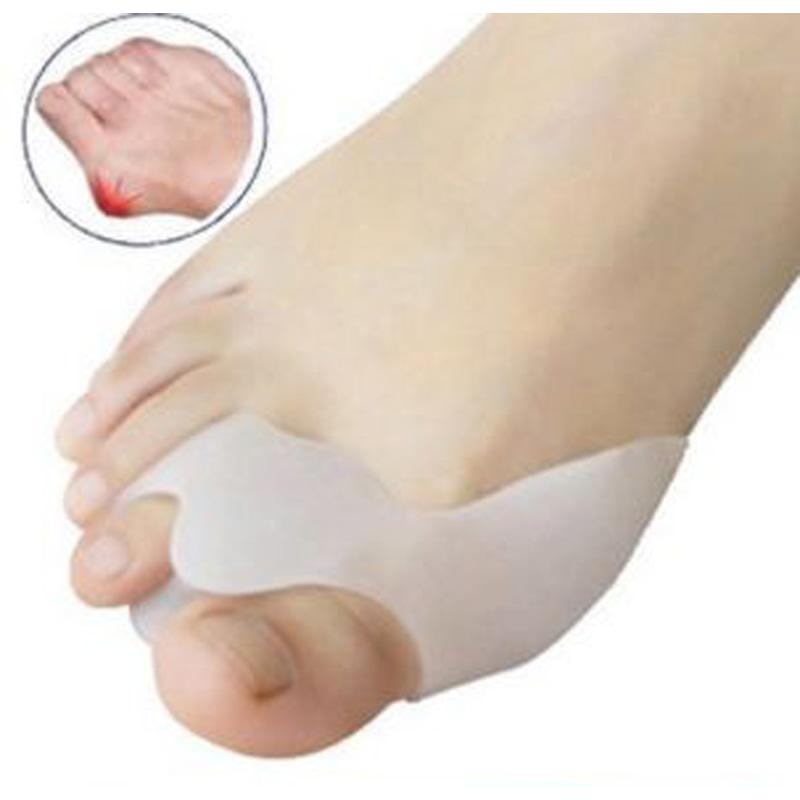 2pair Hot Silicone Gel Foot Care Toe Separator Big Thumb Hallux Valgus Protector&Bunion Adjuster Orthotics Pedicure - PARKnSHOP store