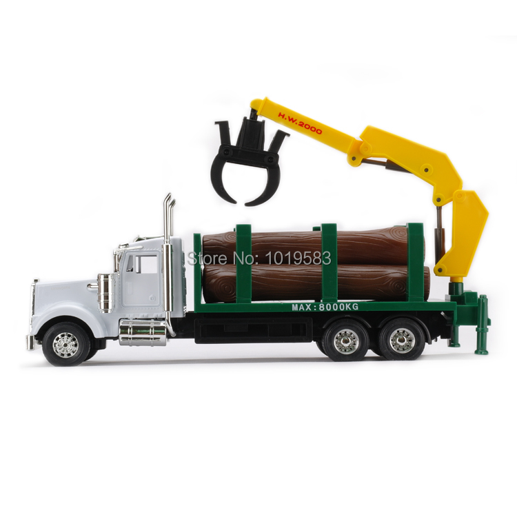 JOYCITY 1/32 Scale Truck Model Toys USA Kenworth Timber Transport Wagon Diecast Metal Car Model Toy New In Box For Gift/Kids(China (Mainland))
