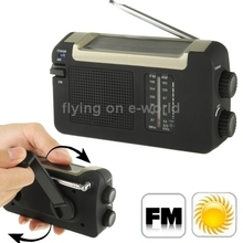 Free Shipping Solar / Hand Crank FM / AM Radio with Antenna Hot Sale