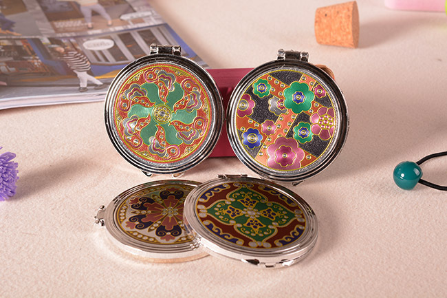 Archaize small round mirror Beauty makeup 1 mixed colors - Neil xia's store