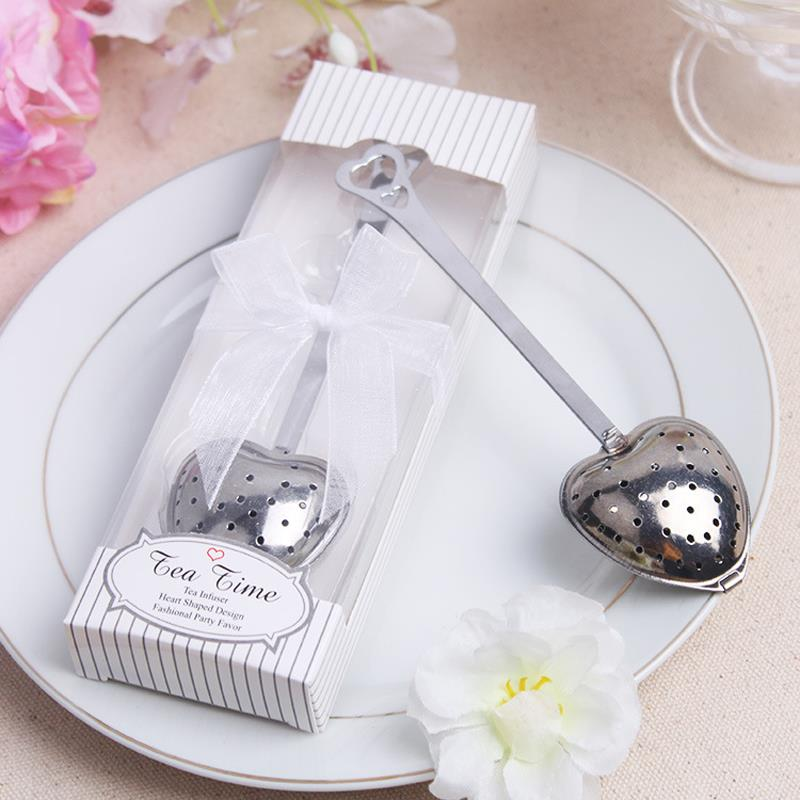 Heart-shaped tea leak Wedding gifts for guests Favors Souvenirs Boda strainers filter bags Infuser Kitchen accessories office(China (Mainland))