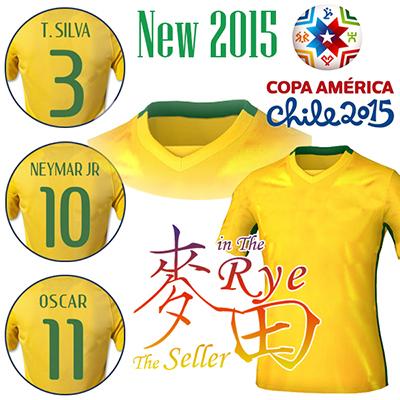 2016 2015 Jersey NEYMAR JR OSCAR COUTINHO Soccer Jersey Home Yellow Amarelo Camisa Futbol T SILVA FRED DAVID LUIZ Camiseta 15 16(China (Mainland))