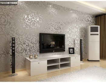 Fashion European Style PVC Wallpaper / wall paper rolls / tv wallpaper / suitable for bedroom / living room / TV setting 4 Color