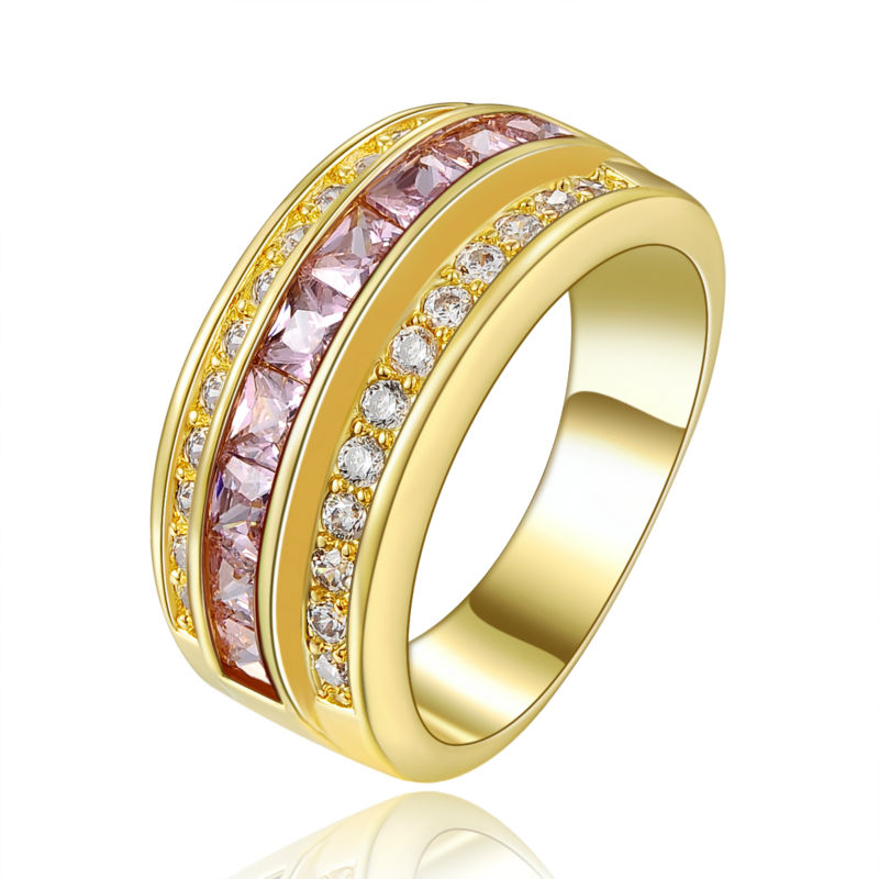 new style fashion jewelry finger ring pink sapphire
