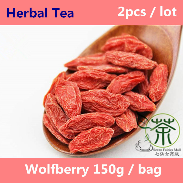 Tea / Herbal Tea Organic Beauty Tea Goji Berry Wolfberry 300g, 150g*2 Personal Care Liver Beauty And Health Care Lycium Barbarum<br><br>Aliexpress