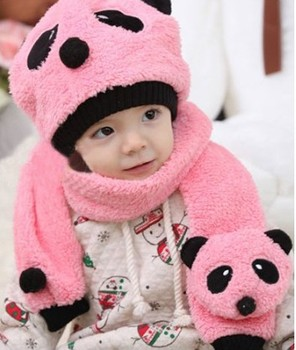 Cute Bear Kids Children Infant Newborn Toddler baby girl beanie hat Baby Girl Hooded Scarf Hats Skullies Beanie Caps chapeu