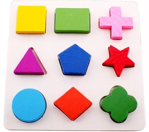 Score board shape geometry plate three-dimensional puzzle child shape wooden educational toys ty009