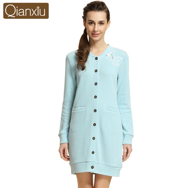 2015 Musim Gugur Merek Homewear Gaun Wanita Kapas Pakaian