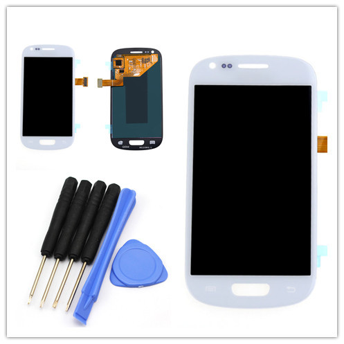 For Samsung S3 mini i8190 LCD display Touch Screen digitizer assembly, White free shipping!!