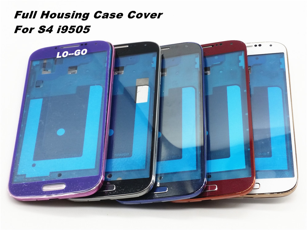 2015 Hot Seling Replacement Full Housing Case Cover+Screen Glass Lens + Buttons For Samsung Galaxy S4 i9505 Tools With Logo(China (Mainland))
