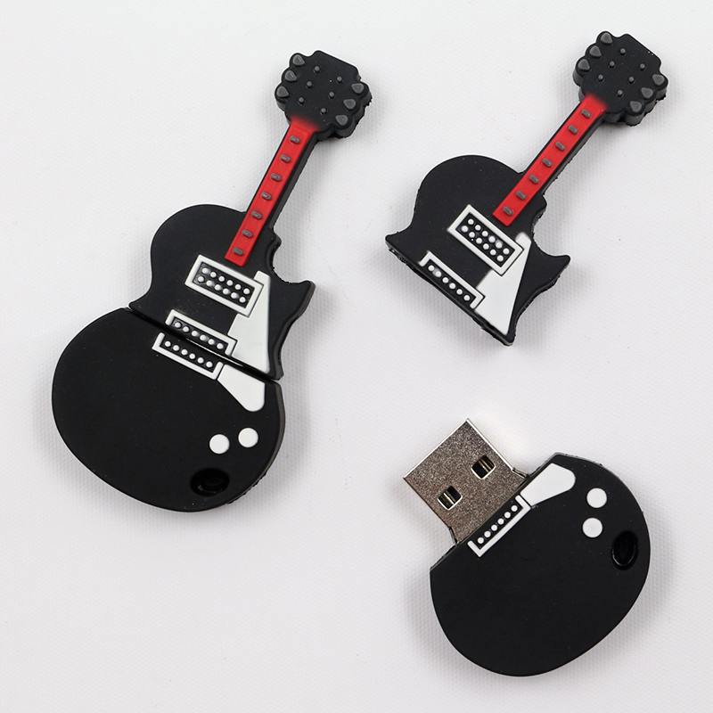 Crzay hot black plastic Guitar usb flash drive for Laptop Computer 64GB pen drive 32GB 16GB 8GB pendrive Memory Stick Disk(China (Mainland))