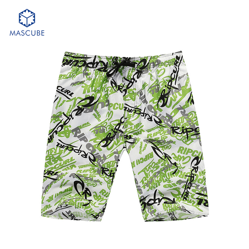 [MASCUBE]Summer Men Beach Shorts Mens Board Short Surf Short-Pants Quick-Drying bermudas hombre masculinos(China (Mainland))