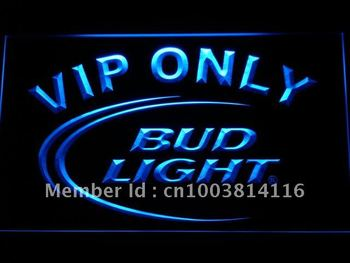 092-b Bud Light VIP Only Bar Beer LED Neon Light Sign
