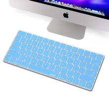 for Apple Magic Keyboard Silicone Soft Keyboard Cover Skin, XSKN Blue Color Standard English Design Keyboard Film