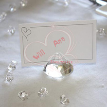 40mm Crystal Name place card holder