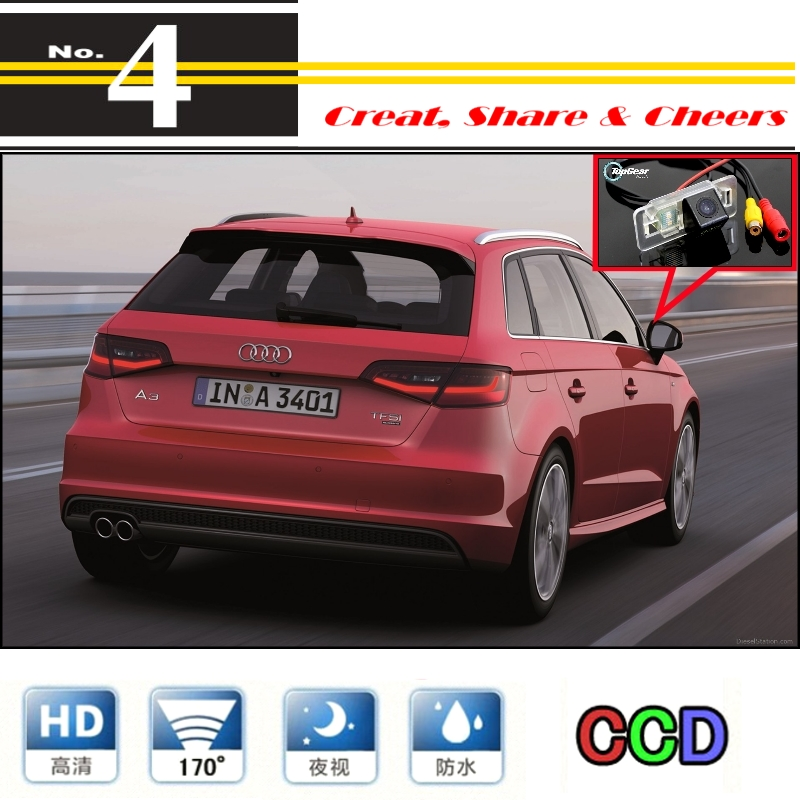 Car Camera For Audi A3 S3 RS3 8V MK3 2012~2015 High Quality Rear View Back Up Camera Supply PAL / NTSC to Use | CCD With RCA(China (Mainland))