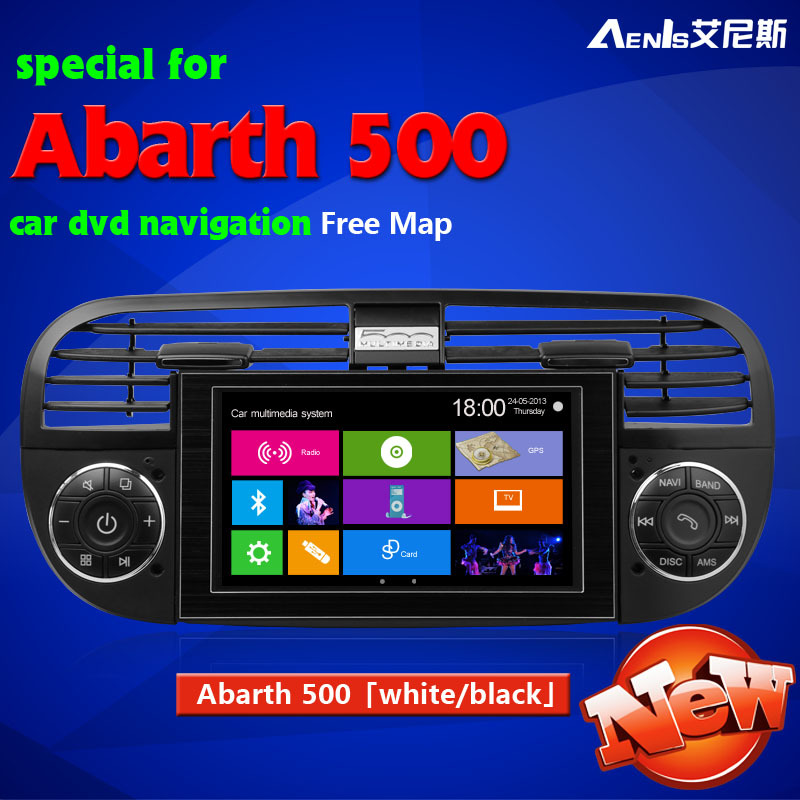 Abarth 500/500c Fiat 500 dvd navigation manufacturer supplier Car DVD GPS flat 500 car dvd navigation(China (Mainland))