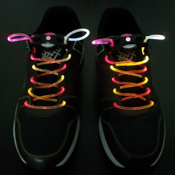 Wholesale Fashion colorful led flashing shoelace, led shoelaces,Laser Shoelaces party shoelace christmas gift 300pcs/lot