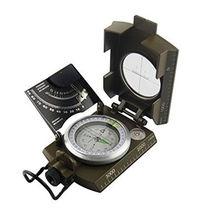 10X6.3cm Green Zinc Alloy Metal Luminous Military Compass Marine Multifunction Waterproof Professional Hiking Camping Compass