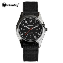 INFANTRY Watch Relogio Military Army Watches Luminous Hands Round Face Ultra Thin Nylon Fabric Watch for Men Military
