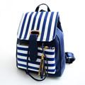 Korean fashion stripes ladies backpack High quality PU leather tassel casual backpacks school students School bags