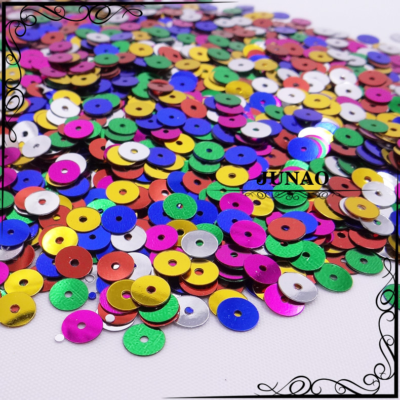 10 mm Mix Color Round Flat Spangle Sequins DIY Sewing