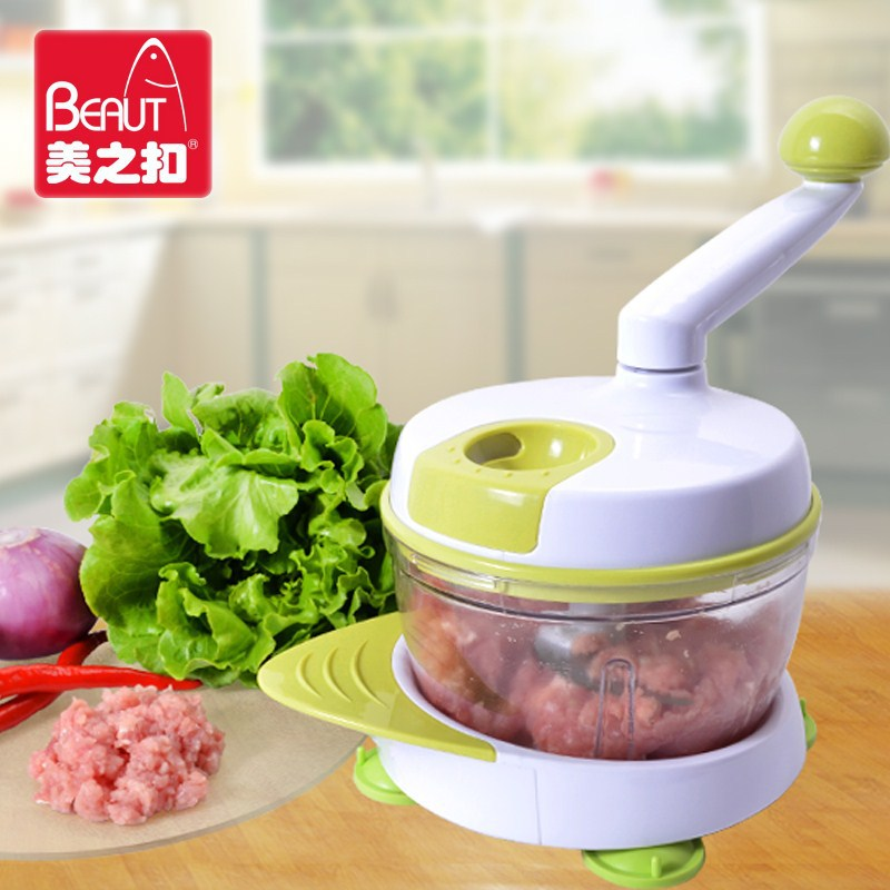 Здесь можно купить  Beauty buckle Qiecai manually dumplings home cooking meat grinder cutter dish machine capacity is 2.5L  Бытовая техника