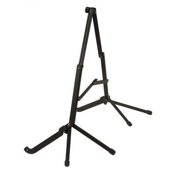 Black Folding Stand for Acoustic Guitar Quality Sturdy Iron Material NEW