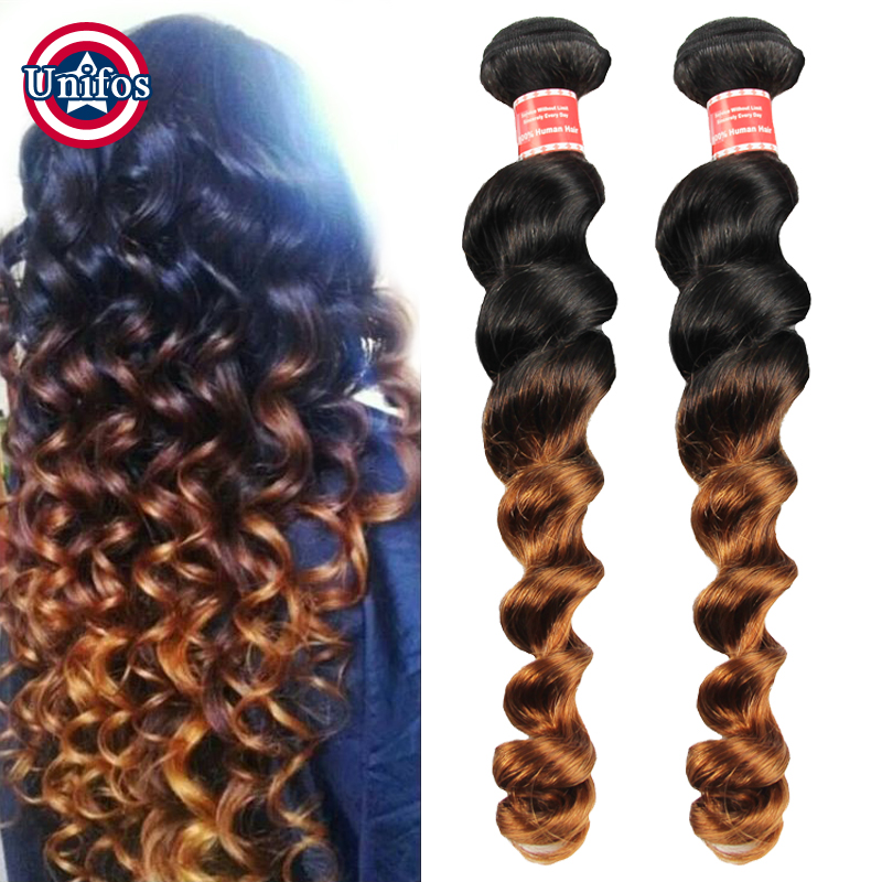 Black To Brown Ombre Human Hair Weave Single Bundle Cheap Burgundy Peruvian Ombre Hair Extensions Loose Wave Ombre Blonde Hair<br><br>Aliexpress