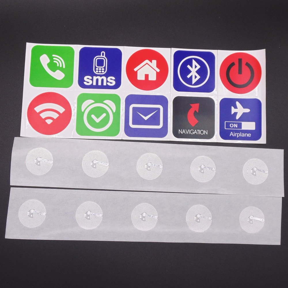 (10PCS/LOT) Ntag203 NFC Stickers Label Tags For Alarm Mute Setting All NFC Phones Compatible<br><br>Aliexpress