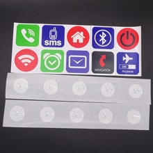 (10PCS/LOT) Ntag203 NFC Stickers Label Tags For Alarm Mute Setting All NFC Phones Compatible