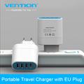 Vention 4 Ports USB Wall Charger Adapter EU Plug 5V 4 5A USB Portable Home Travel