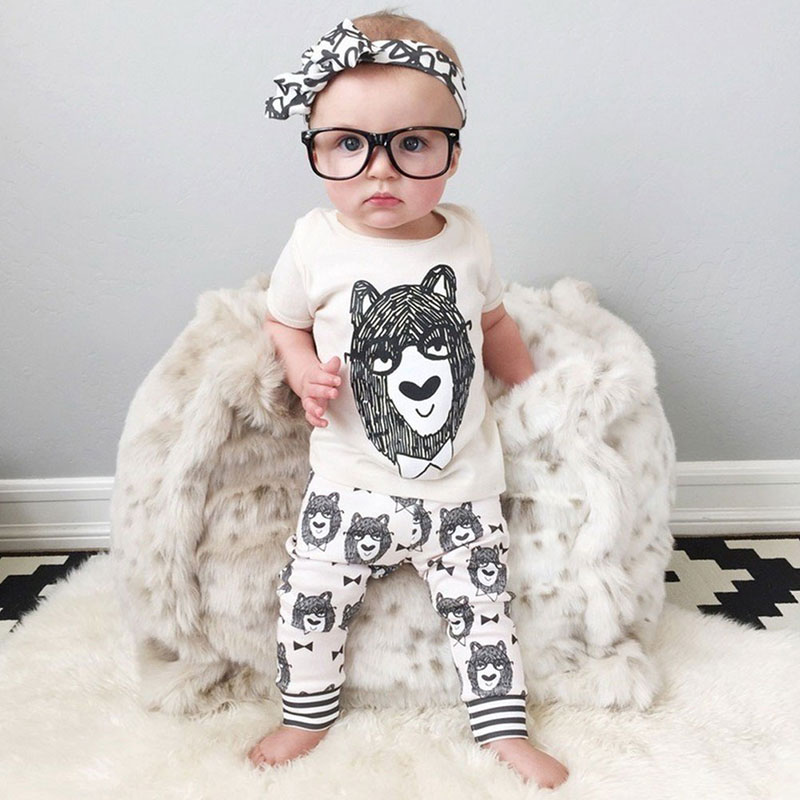 Summer Boy Infant children Kids Clothes Baby Clothing Sets Boy Cotton Little Monsters Short Sleeve 2pcs Baby Boy Clothes