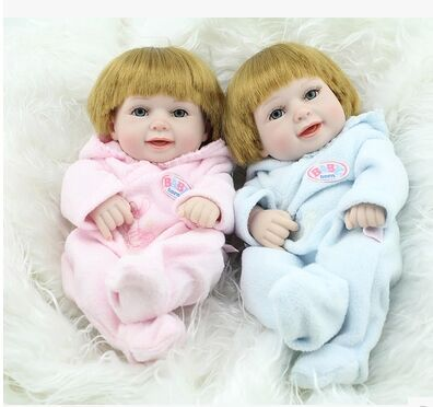 Fashion 28CM Silicone Alive Reborn Baby Doll Girls Toys Lifelike Baby Doll For Children, 2015 high quality dolls(China (Mainland))