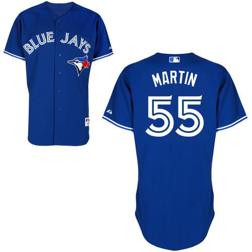 Toronto Blue Jays Jersey 100% Stitched #55 Russell Martin Blue Baseball Jerseys Wholesale(China (Mainland))