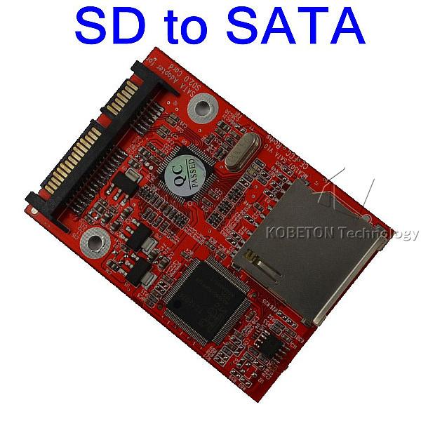 Discount 10pcs SD Secure Digital to SATA 2.5 HDD Converter Adapter MMC SDHC to SATA Support Windows 98 2000 XP Vista Linux(China (Mainland))
