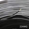 1m 5m 10m 20m 50m Tinned copper 22AWG Black cable PVC insulated wire Electric cable LED