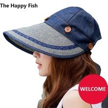 women sun hat sun visor hat summer hats for women summer hat  feminino(China (Mainland))