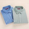 Dioufond New Brand Women s Plaid Shirt Female Shirt Pattern Button Down Checkered Shirt For Women