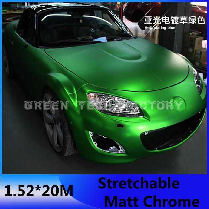 USA CANADA free shipping blue chrome paint protection film metallic chrome car wrap film(China (Mainland))