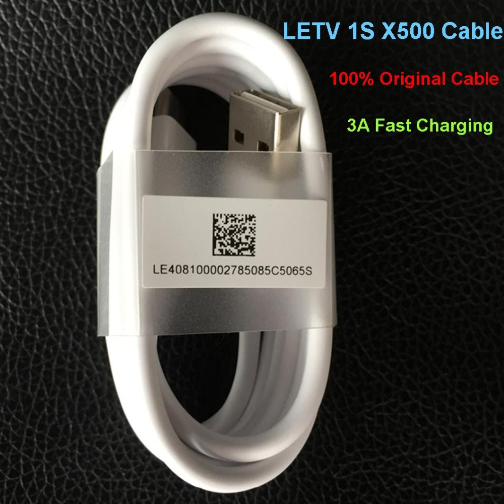 2016 Original LeTV 1S LeTV One S X500 Type-C USB Cable 3A Charging Replacement Cable For LeTV 1S LeTV One S X500 mobile phone(China (Mainland))