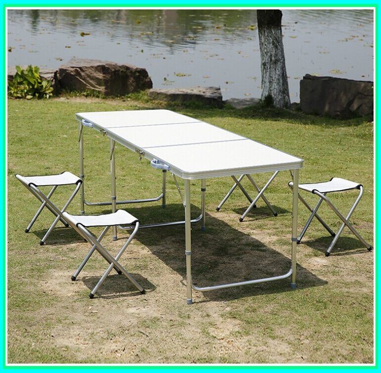 portable aluminium alloy folding tables with chairs set