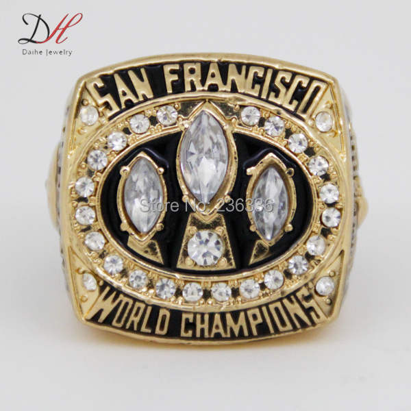 CR-20464 Fashion Super Bowl Cheap championship rings 1988 San Francisco 49ers championship ring with crystal Replica Ring(China (Mainland))