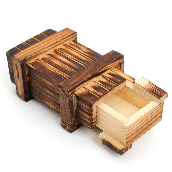 Wooden Magic Box Secret Puzzle Drawer Kid Funny Vintage Brain Teaser Toy Magic Trick Wooden Puzzle Box Toys New Arrival(China (Mainland))