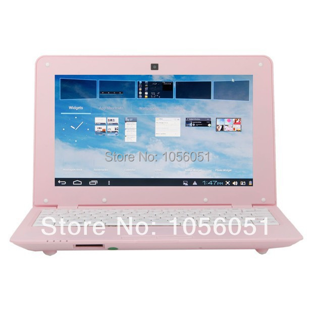 10.1 inch oem laptop netbook VIA WM8880 1.5GHZ 1gb/8gb Android 4.2 WIFI black white pink Silver colors(China (Mainland))