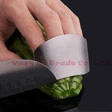 New Creative Kitchen Tool Stainless Steel Finger Hand Protector Guard Knife Slice Shield 2015 new arrival markkk(China (Mainland))