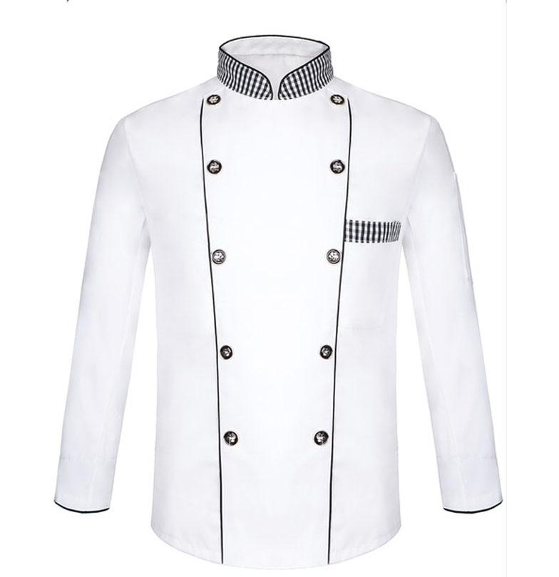 chef uniform summer short sleeve black line collar hotel chef work wear cloths long sleeved Pastry Chef Uniform(China (Mainland))
