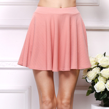 New 2016 Summer Skirts Women's Clothing A-Line Chiffon short Solid Miniskirts European and American Style super Natural Kilts