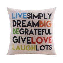 English alphabet Cotton linen Cushion cover