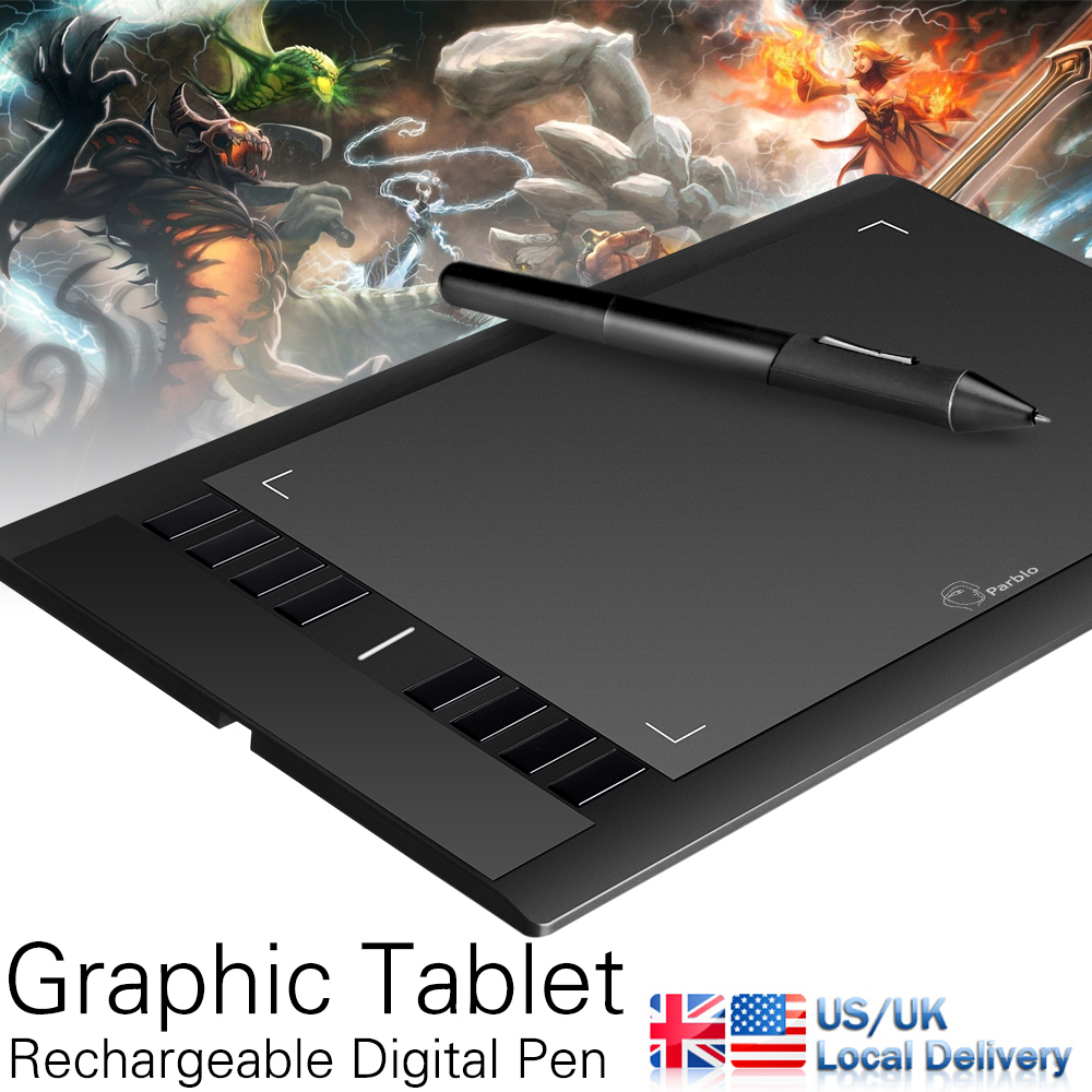 Parblo A610( Ugee M708 ) Graphics Drawing Tablet with Pen 2048 Level Digital Pen Good as Huion H610 Pro + Anti-fouling Glove(China (Mainland))